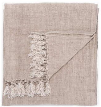 Lulu & Georgia Malea Linen Throw, Aluminum