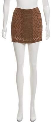 Haute Hippie Silk Beaded Mini Skirt