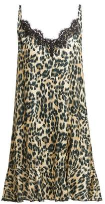 Icons Jasmin Leopard Print Silk Blend Slip Dress - Womens - Leopard