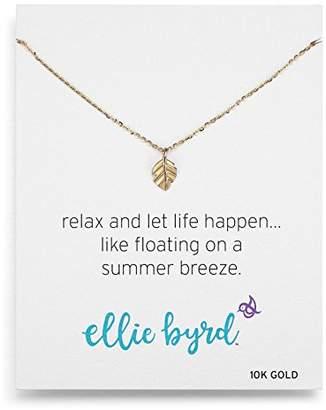 ellie byrd 10k Gold Leaf Pendant Necklace