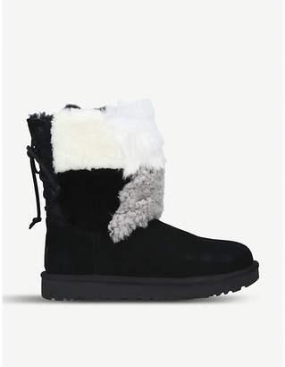 UGG Classic short patchwork sheepskin boots