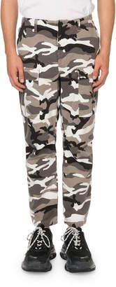 Balenciaga Men's Camouflage Cargo Pants