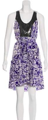 Gryphon Print Silk Dress