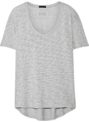 ATM Anthony Thomas Melillo Boyfriend Slub Cotton-jersey T-shirt - Light gray