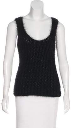 Chanel Angora Knit Sleeveless Top