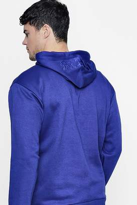 boohoo MAN Embroidered Hoodie In Fleece