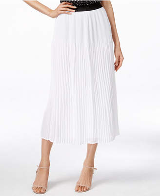 NY Collection Crinkled Midi Skirt $60 thestylecure.com