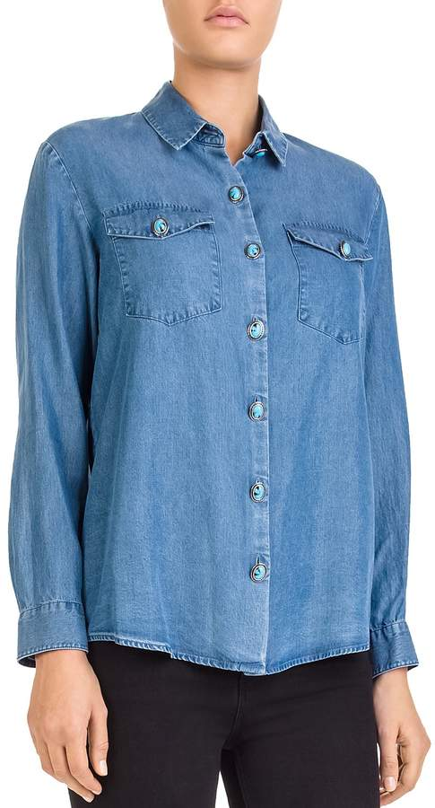 The Kooples Chambray Button-Down Shirt
