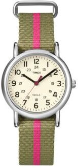Timex Ladies Weekender Silvertone Watch $50 thestylecure.com