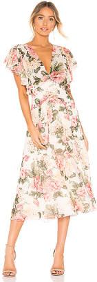 Divine Heritage Twist Back Midi Dress