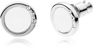 Skagen Sea Glass and Stainless Steel Women's Earrings w/Crystals
