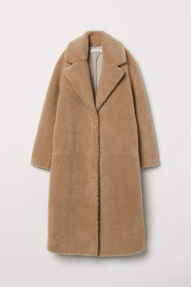 H&M Long Pile Coat - Beige