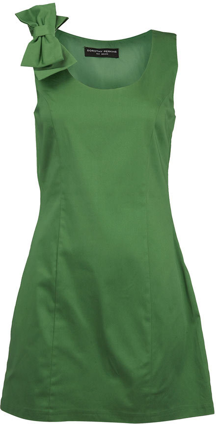 Green bow detail tunic