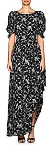 Co Women's Asymmetric-Hem Floral Gabardine Dress - Black