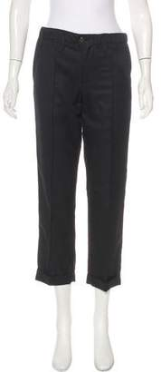 Julien David Mid-Rise Cropped Pants