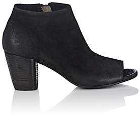Marsèll Women's Burnished Leather Ankle Booties-Black