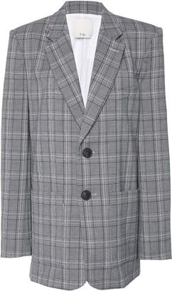 Tibi James Plaid Blazer Size: 0