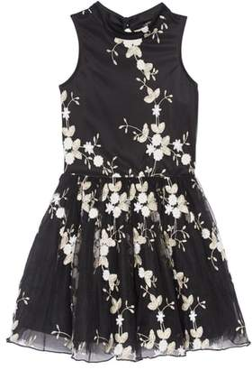 Miss Behave Floral Embroidered Party Dress