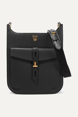 Tom Ford T Twist Textured-leather Shoulder Bag - Black