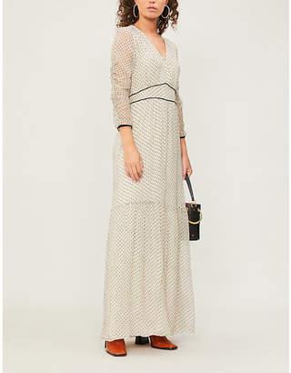 BA&SH Despina dotted silk dress