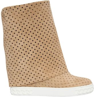 80mm Stars Perforated Suede Wedge Boots $725 thestylecure.com