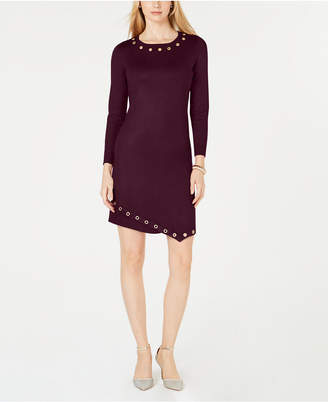 NY Collection Petite Asymmetrical Grommeted Dress
