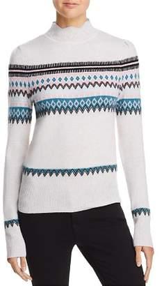 Aqua Scalloped Fair Isle Cashmere Sweater - 100% Exclusive