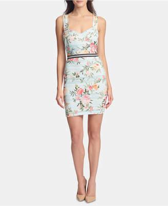 GUESS Sleeveless Printed-Lace Sheath Dress