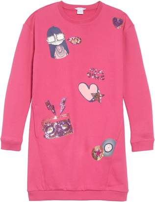Little Marc Jacobs Miss Marc Sweatshirt Dress