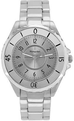 HAMPDEN Hampden Mens Silver-Tone Personalized Bracelet Watch