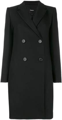 Theory double-breasted fitted coat