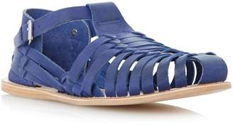 Dune MENS FISHER - Woven Leather Closed Toe Sandal