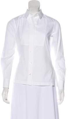 Sacai Long Sleeve Button-Up Top