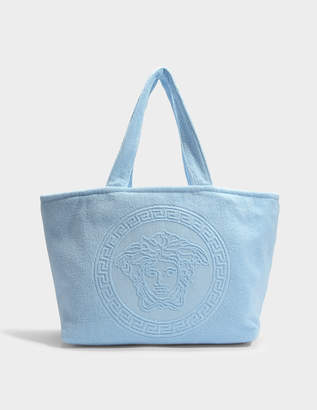 27c8e089a4e5 Versace Tribute Medusa Towel Bag in Blue Terry Cloth