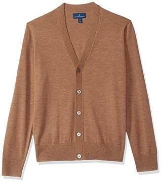 Buttoned Down Men's Italian Merino Wool Lightweight Cashwool Cardigan Sweater,Medium