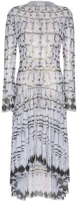 DAY Birger et Mikkelsen Navro Grey Long-Sleeved Feather Print Midi Dress