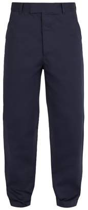 Prada Relaxed Fit Cotton Trousers - Mens - Navy