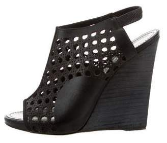 Proenza Schouler Leather Laser Cut Wedges