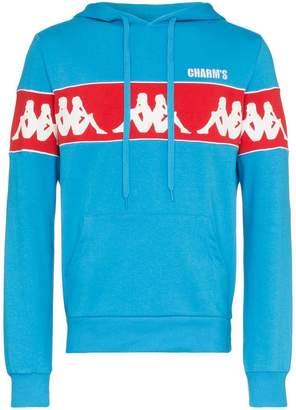 Blend of America Charm's X Kappa logo printed cotton hoodie