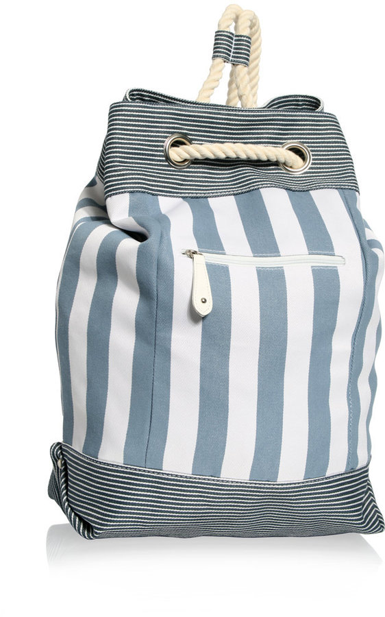 ASOS Stripe Canvas Duffle Bag