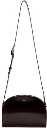 A.P.C. Brown Half Moon Bag $455 thestylecure.com