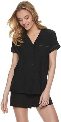 0946d06b4723 Apt. 9 Women's Solid Sleep Shirt & Pajama Shorts Set