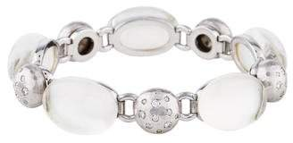 Mother of Pearl 18K Diamond, Quartz & Doublet Link Bracelet