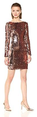 Dress the Population Women's Lola Long Sleeve Sequin