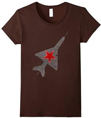 MiG-21 Russian Soviet Era Star Vintage Aircraft T-Shirt