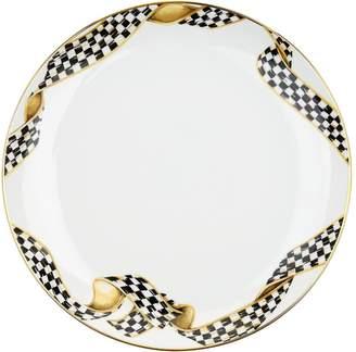 Mackenzie Childs Mackenzie-Childs Thistle and Bee Ribbon Dinner Plate (26cm)