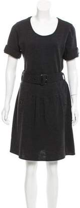 Burberry Belted Sweater Dress