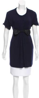 Lanvin Short Sleeve Bow-Accented Tunic