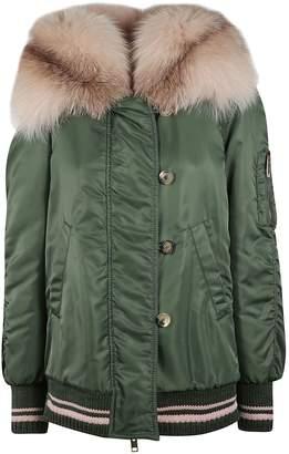 Ermanno Scervino Fur Trim Hooded Jacket