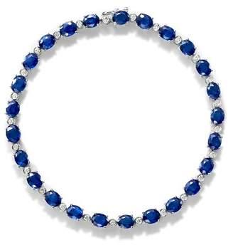 Bloomingdale's Sapphire & Diamond Tennis Bracelet in 14K White Gold - 100% Exclusive